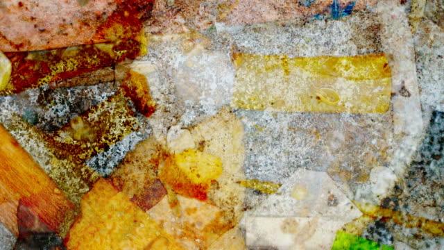 vídeos de stock, filmes e b-roll de caixote do lixo: cores vibrantes (arco) - dissolvendo
