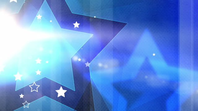Vibrant Colourful Stars Background Loop - Blue (Full HD)