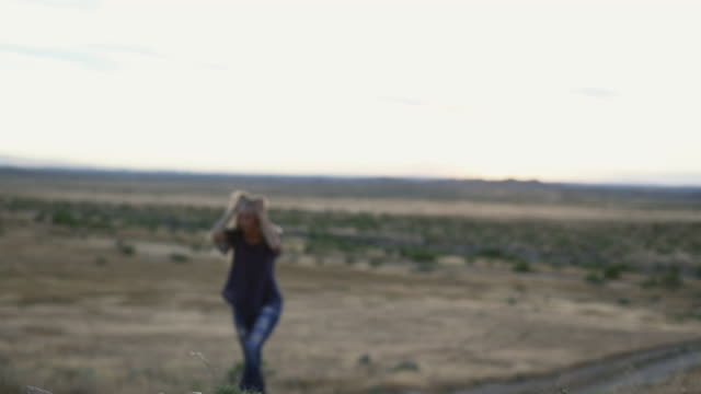 vibrant fit female enjoying special moments outdoors at golden hour in western colorado 4k video - sequential series stock videos & royalty-free footage