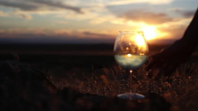 白ワイン4kビデオで西コロラドのゴールデンアワーで特別な瞬間を楽しむ活気に満ちたフィット女性 - 連続するイメージ点の映像素材/bロール