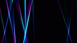 Vibrant neon laser rays stripes video animation