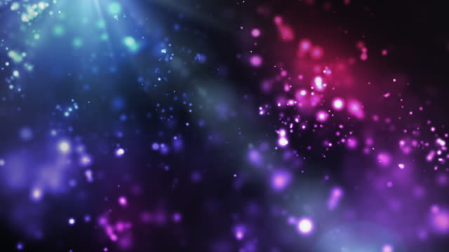 vibrant night sparkles loop - blue/pink (full hd) - bright stock videos & royalty-free footage