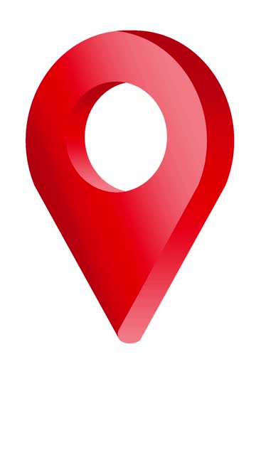 lebendiges rotes location pin pointer animiertes cartoon-symbol - wegweiser stock-videos und b-roll-filmmaterial
