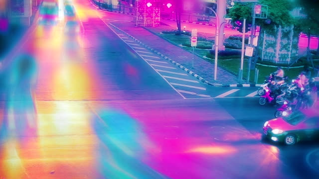 Vibrant toned traffic