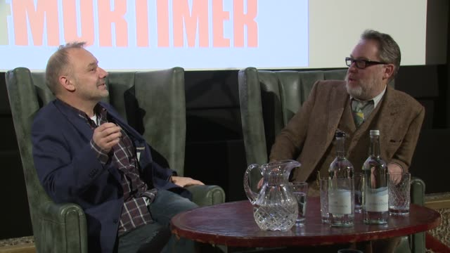 vídeos de stock, filmes e b-roll de vic and bob on diet and the tour rider on january 13, 2016 in london, england. - vic reeves