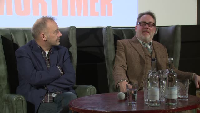 vídeos de stock, filmes e b-roll de vic and bob on nerves and returning on january 13, 2016 in london, england. - vic reeves