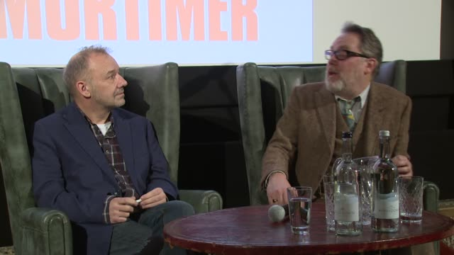 vídeos de stock, filmes e b-roll de vic and bob on show business on january 13, 2016 in london, england. - vic reeves