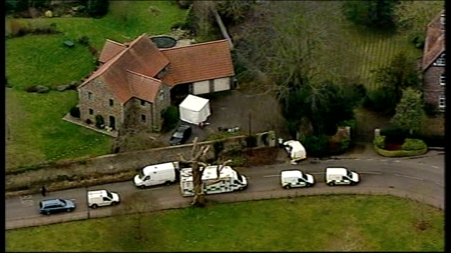 vicar found dead in gloucestershire: police question suspect / memorial service held; england: south gloucestershire: thornbury: ext air view of... - minister clergy stock videos & royalty-free footage