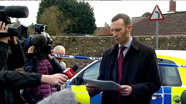 vicar found dead in gloucestershire: police question suspect / memorial service held; detective chief inspector simon crisp speaking to press sot -... - minister clergy stock videos & royalty-free footage