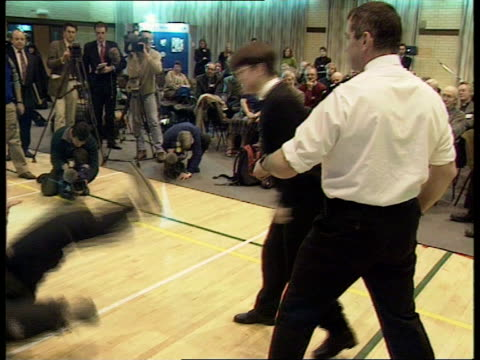 vicars attend selfdefence course england northants northampton police hq vicar hits heavily padded policeman on arm and shouts sot 'stop' during... - self defence stock videos & royalty-free footage