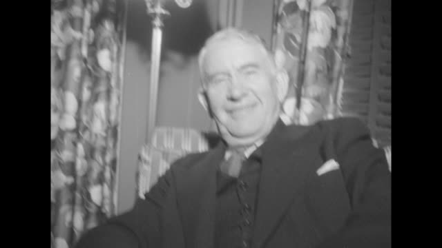 vs vice president alben barkley and radio shaking hands chatting with wife jane - alben w. barkley stock videos and b-roll footage