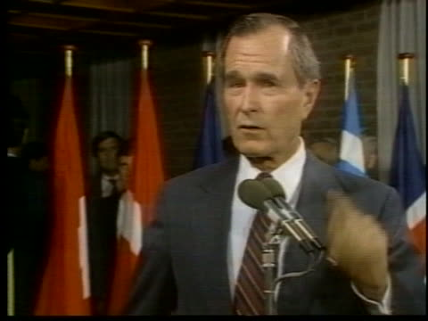 vice president george h. w. bush comments on the effectiveness of the soviet union's workers. - united states and (politics or government) stock videos & royalty-free footage