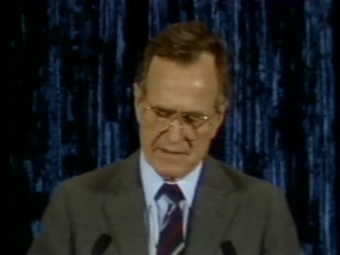 vice president george h. w. bush says he will lead the executive branch negotiations in a deficit summit. - 副代表点の映像素材/bロール