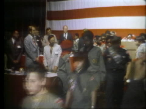 vice president gerald ford oversees a boy scout chapter in chicago that admits to padding registration numbers to get more federal aid. - scout association stock videos & royalty-free footage