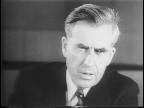 Vice President Henry Wallace speaks exclusively to Paramount News upon his return from China / Wallace discusses his meeting with leaders in Soviet...