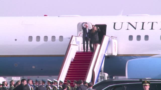 us vice president joe biden arrives in beijing to raise concerns over a chinese air zone ramping up regional tensions clean biden in china as air... - vice president stock videos and b-roll footage