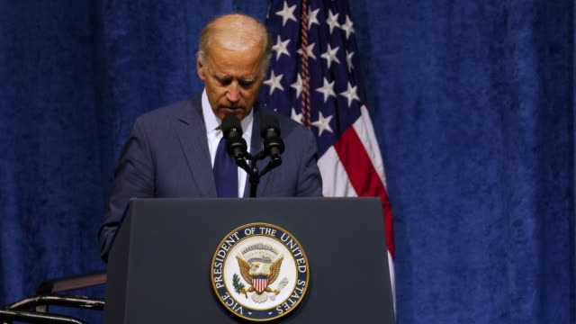 vice president joe biden came to chattanooga , tennessee on aug 15 for a memorial service to honor the 5 servicemen killed about a month ago. - 光栄点の映像素材/bロール