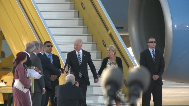us vice president joe biden flew in to cyprus wednesday for talks on the divided mediterranean islands peace process and western sanctions against... - vice president stock videos and b-roll footage