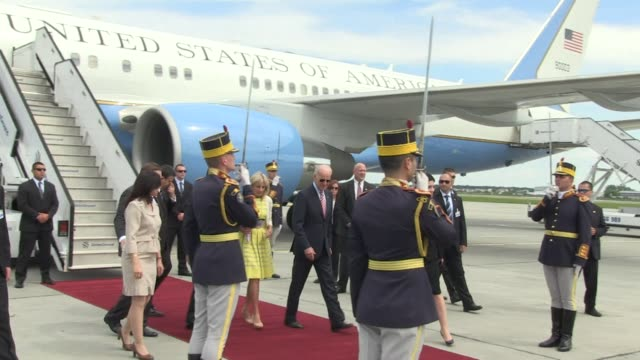 us vice president joe biden on tuesday blasted russias annexation of crimea saying borders should not be changed at gunpoint as he began a visit to... - russia stock videos & royalty-free footage