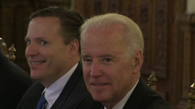 us vice president joe biden on wednesday threatened russia with tougher sanctions if it undermines a crucial presidential election in ukraine this... - vice president stock videos and b-roll footage