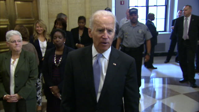 stockvideo's en b-roll-footage met vice president joe biden quotes madeleine albright and says that the united states is the indispensable nation when it comes to the economy before... - united states and (politics or government)