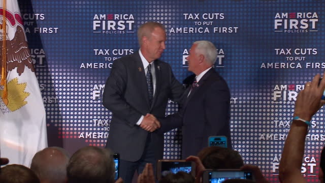 WGN Vice President Mike Pence appeared at the Westin O'Hare hotel near O'Hare Airport in Chicago on July 13 to talk up President Trump's...
