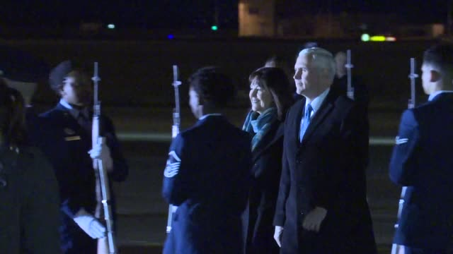 US Vice President Mike Pence arrives in Japan for a three day visit ahead of his trip to South Korea for the Winter Olympics