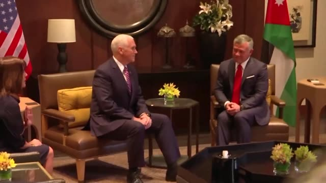 US Vice President Mike Pence held talks with Jordan King Abdullah II Sunday as part of a delayed Middle East tour overshadowed by Arab anger over...