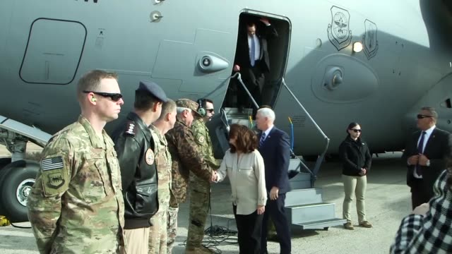 Vice President Mike Pence made a stop at the 332nd Air Expeditionary Wing on Sunday January 21st to visit with the deployed service members during...