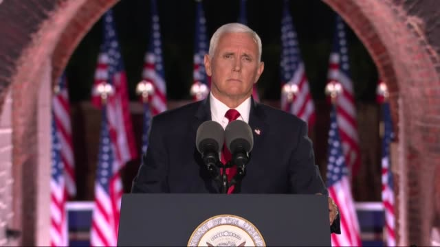 vice president mike pence says in remarks to the 2020 republican national convention at fort mchenry that before joe biden said no miracle was coming... - miracle stock videos & royalty-free footage