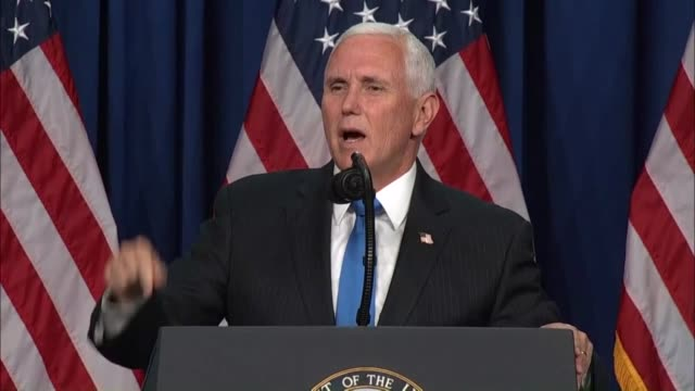 vice president mike pence tells delegates at the 2020 republican national convention in charlotte that it was four years earlier they had gathered to... - financial accessory stock videos & royalty-free footage
