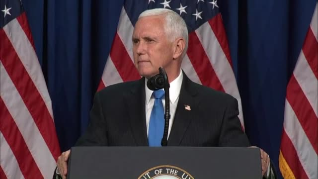 vídeos de stock e filmes b-roll de vice president mike pence tells delegates at the 2020 republican national convention in charlotte that he knew all of them would do their part to... - política e governo