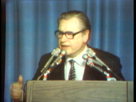 vice president nelson rockefeller speaks about the need to keep the republican party as a single party. - united states and (politics or government) stock videos & royalty-free footage
