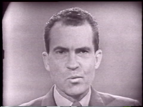 vice president nixon's opening statement part 1 - john f. kennedy politik stock-videos und b-roll-filmmaterial
