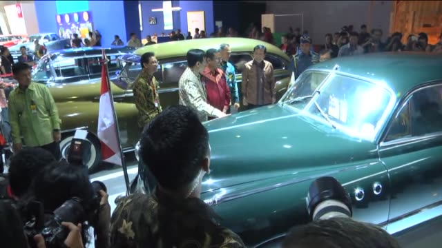 Vice President of Indonesia Jusuf Kalla attends opening ceremony of the 23rd Indonesia International Motor Show at JI EXPO Kemayoran in Jakarta...