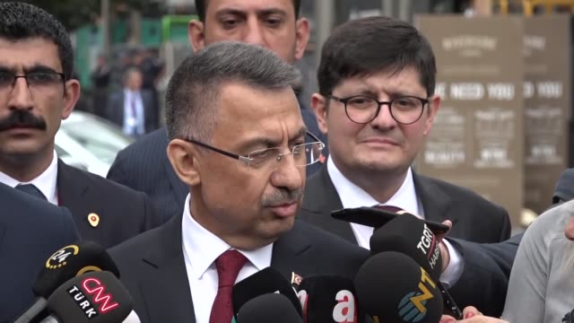 vice president of turkey, fuat oktay and minister of foreign affairs of turkey, mevlut cavusoglu lay flowers during their visit to al noor mosque... - friday stock videos & royalty-free footage