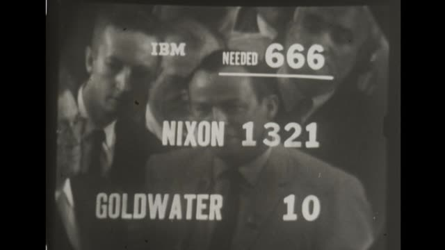 vice president richard nixon secures the republican nomination for presidential candidate votes are read aloud by state - nomination stock videos & royalty-free footage