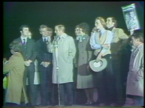vice presidential candidate walter mondale asks minnesotans to turn out in record numbers to vote for 1976 democratic party candidate jimmy carter. - united states and (politics or government) stock videos & royalty-free footage