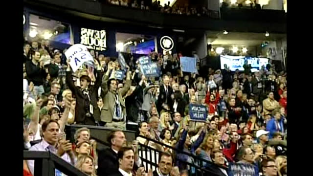vicepresidential nominee sarah palin first speech crowd cheering - vice president stock videos & royalty-free footage