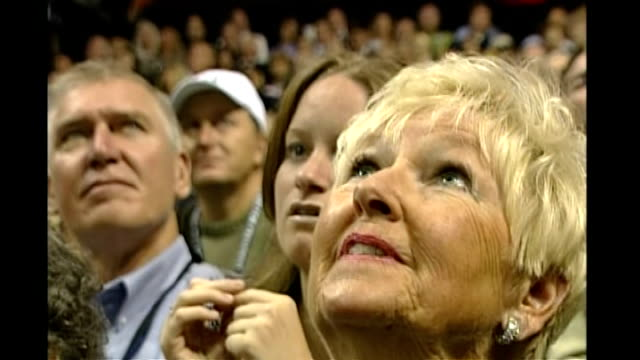 vicepresidential nominee sarah palin first speech woman supporter looking up at stage supporters in hats listening - vice president stock videos & royalty-free footage
