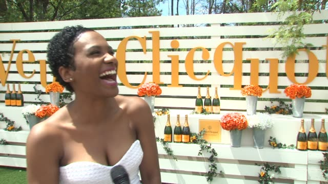 interview vicky jeudy on what she's excited about today on veuve clicquot on her upcoming projects on shooting season 3 of orange is the new black on... - orange new jersey stock videos & royalty-free footage