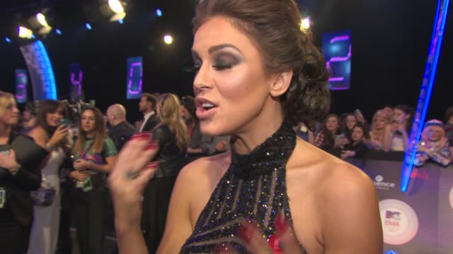 vicky pattison on being at the awards, representing the 'geordie shores' at the awards at mtv ema awards 2014 at the sse hydro on november 09, 2014... - darstellen stock-videos und b-roll-filmmaterial