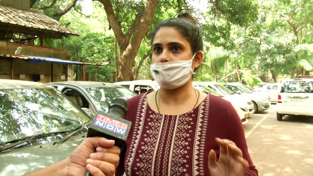 """victim anvay naik's daughter adnya naik's byte about journalist arnab goswami. she says, """"he was threatening my father also that whatever money i... - byte stock videos & royalty-free footage"""