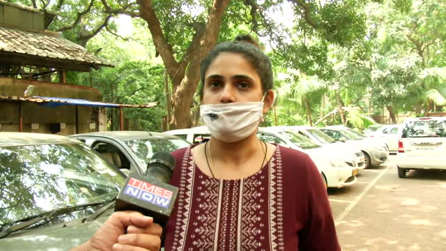 """victim anvay naik's daughter adnya naik's byte about journalist arnab goswami. she says, """"i myself don't know what political power or connections... - byte stock videos & royalty-free footage"""