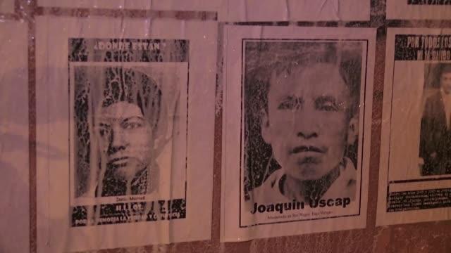 victimas de la guerra civil guatemalteca iniciaron el martes una campana de busqueda de informacion para que personas que fueron adoptadas... - niños stock videos & royalty-free footage
