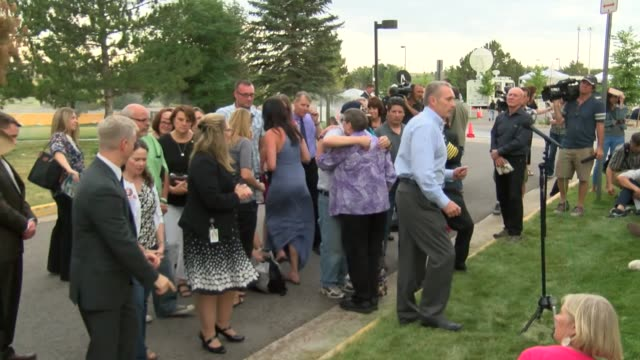 victims and family members after life in prison sentence for aurora theater shooting trial of james holmes - sentencing stock videos & royalty-free footage