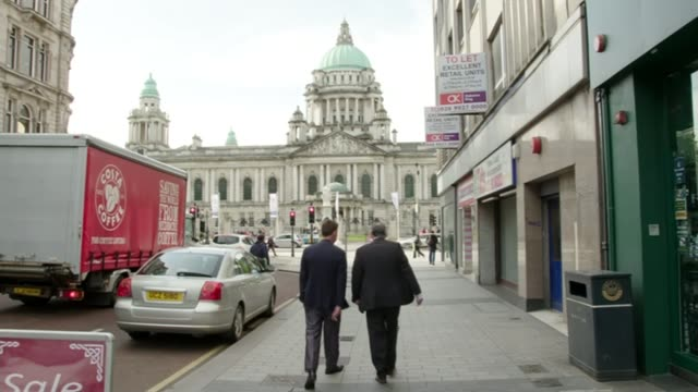 victims call for abuse at kincora boys' home to be included in historic child abuse inquiry; northern ireland: belfast: ext clint massey and richard... - hoy stock videos & royalty-free footage