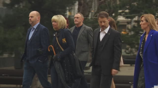 Victims of football coach paedophile Barry Bennell arriving at court for his sentencing