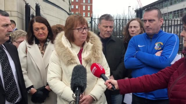 victims of historic abuse in northern ireland demand government action on stalled compensatiom scheme speakers martin adams from survivors together... - northern ireland stock videos & royalty-free footage
