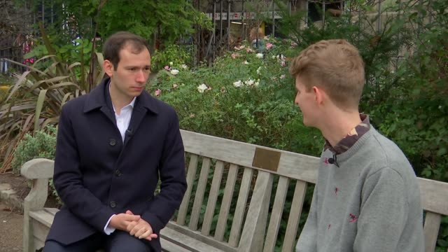 victims of homophobic attack in lambeth now fearful of showing affection towards each other in public; england: london: ext matthew interview sot... - omofobia video stock e b–roll